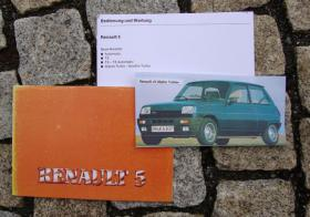 Betriebsanleitung Renault R 5 Alpine Turbo / Gordini Turbo / 1981