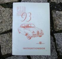 Betriebsanleitung SAAB 93 / 1955 Oldtimer