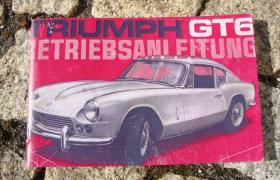 Betriebsanleitung Triumph GT6 Coupé 1966
