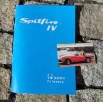Betriebsanleitung Triumph Spitfire Mk IV / 1975