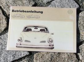 Betriebsanleitung VW Karmann Ghia 1600 1972