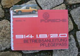 Betriebsanleitung VW-Porsche 914 1.8 / 2.0 (1975)