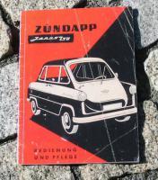 Betriebsanleitung Zündapp Janus (1958) Oldtimer Kleinwagen
