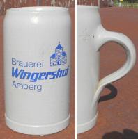 Bierkrug - Brauerei Wingershof, Amberg