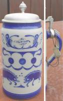 Bierkrug / Ritzkrug - Hachenburger Pilz - 1 Liter