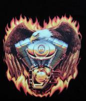 Bikershirt  Biker T-Shirt in schwarz mit Motiv Gr M