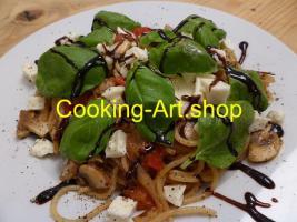"""++ Bild """"Mozzarella-Tomate auf Pasta'',  Alu-Dibond, 69x52cm ++"""