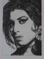 Bild: Radierung Amy Winehouse (Sängerin, Soul, Rehab, Retrolook, 60er Jahre...)