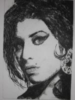 Foto 2 Bild: Radierung Amy Winehouse (Sängerin, Soul, Rehab, Retrolook, 60er Jahre...)