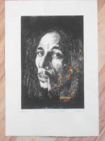 Foto 2 Bild: Radierung Bob Marley (Reggae, Rastafari, Jamaika, Musiker, Sänger....)