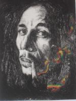 Foto 3 Bild: Radierung Bob Marley (Reggae, Rastafari, Jamaika, Musiker, Sänger....)