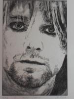 Foto 2 Bild: Radierung Kurt Cobain (Nirvana, Sänger, Gitarrist, Rockmusik, Grunge...)
