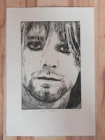 Foto 3 Bild: Radierung Kurt Cobain (Nirvana, Sänger, Gitarrist, Rockmusik, Grunge...)