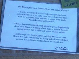 Foto 2 Bild '' Clown am Klavier '' von H. Müller , selten!