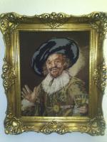 Bild - '' Der Weintrinker '' im sehr schönem Gemälderahmen-hochwertig - ALLES !