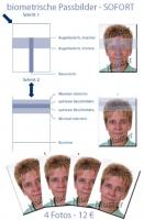 Biometric passport photographs for the foreigners' registration office and visas for Germany