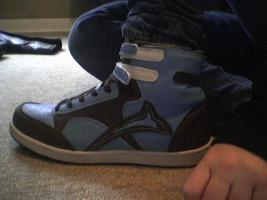 Blau Braune Sneaker