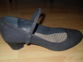 Foto 2 Blaue Wildleder Schuhe mit Absatz
