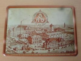 Blechschild 2012 Landskron Brauerei