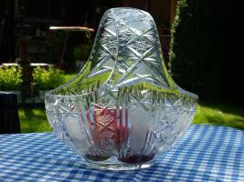 Foto 3 Bleikristall Korb mit Henkel im Sternschliff