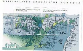 Blockausgabe Nationalpark Sächsische Schweiz '' 1998 '' !