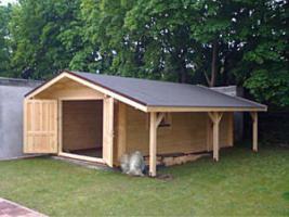 Blockbohlengaragen, Holzgaragen, Blockhäuser, Gartenhäuser, Garagen, und sonstigen Zweckbauten nach Kundenmaß