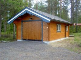 Foto 12 Blockbohlengaragen, Holzgaragen, Garagen, Blockhäuser, in vielen Grössen und Varianten von Standard bis individuell gefertigt, ..