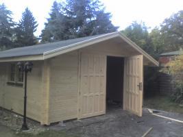 Blockbohlengaragen, Holzgaragen, Garagen, Blockhäuser, in vielen Grössen und Varianten von Standard bis individuell gefertigt, ..