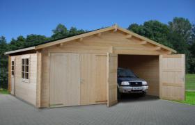 Foto 5 Blockbohlengaragen, Holzgaragen, Garagen, Blockhäuser, in vielen Grössen und Varianten von Standard bis individuell gefertigt, ..