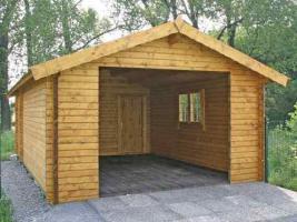 Foto 6 Blockbohlengaragen, Holzgaragen, Garagen, in vielen Grössen, ..auch nach Kundenmaß, ..
