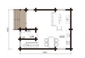 Foto 11 Blockbohlenhaus Till 84 m2