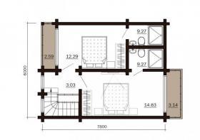 Foto 12 Blockbohlenhaus Till 84 m2