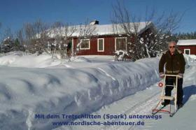 Foto 8 Blockhütte mit Kamin und Sauna in Lappland/SchwedenBagarstugan