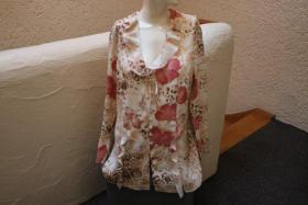 #Bluse mit Raubtier- und Blumenmuster Gr. 40, #beige-rosa, #NEU, #Exclusive