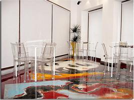 Bodenbeschichtung –elegante Unifarbene Beschichtung für Gastronomie.