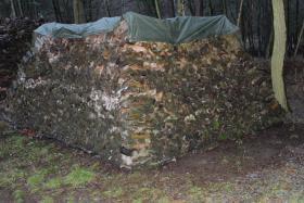 Brennholz 25cm gemischt, ofenfertiger Haufen mit 22,4 Raummeter