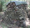 Brennholz: trockenes Brennholz, Ofenholz gemischt mit 25cm Länge, Haufen mit 12,544 Raummeter