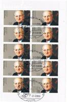 Briefmarken 10 er Bogen  Johannes   Rau  Bundespräsident a.D.