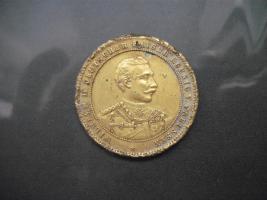 Bronze Medaille Wilhelm II Kaiser Koenig v.Preussen (1888)