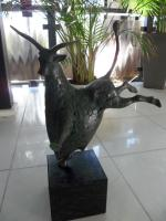Bronze Skulptur ``Happy Bull`` von Evert den Hartog