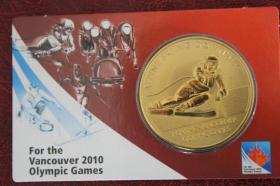 Bronze- Gedenkprägung - Ski Alpin 2010 Vancouver Olympic Games 12 EUR