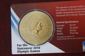 Foto 2 Bronze- Gedenkprägung - Ski Alpin 2010 Vancouver Olympic Games 12 EUR