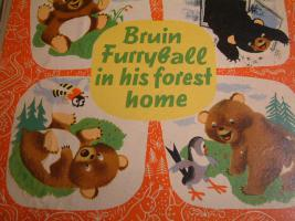''Bruin Furryball in his forest home'' ein Kinderbuch.