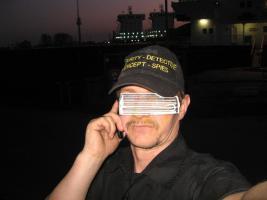 R.Spies Sicherheitsexperte in einer Hafenanlage