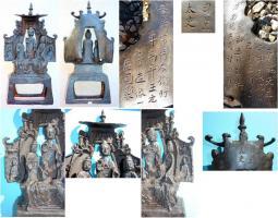 Foto 5 Buddha-Altar, Hausschrein, Hausaltar, Skulptur, Asien, Indien, Widmungsinschrift
