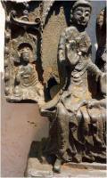 Foto 9 Buddha-Altar, Hausschrein, Hausaltar, Skulptur, Asien, Indien, Widmungsinschrift