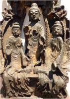 Foto 10 Buddha-Altar, Hausschrein, Hausaltar, Skulptur, Asien, Indien, Widmungsinschrift