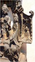 Foto 11 Buddha-Altar, Hausschrein, Hausaltar, Skulptur, Asien, Indien, Widmungsinschrift