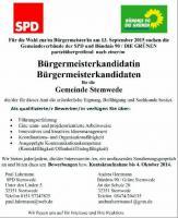 Bürgermeisterkandidat/in für Stemwede gesucht!