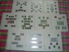 Foto 2 Bund-und Berlin-Briefmarken postfrisch und gestempelt in Lindneralben